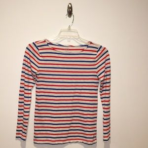 Striped Long-Sleeve J.Crew Painter Tee